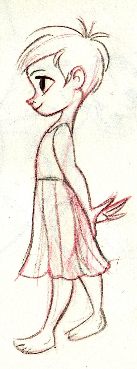 546x1464 Little Girl Cartoon Drawing