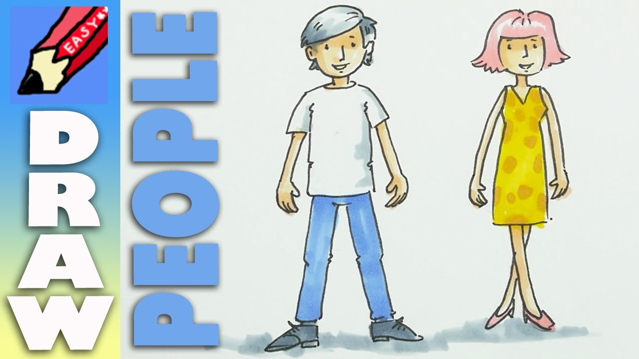 1280x720 Easy To Draw Cartoon Humans How To Draw Cartoon People
