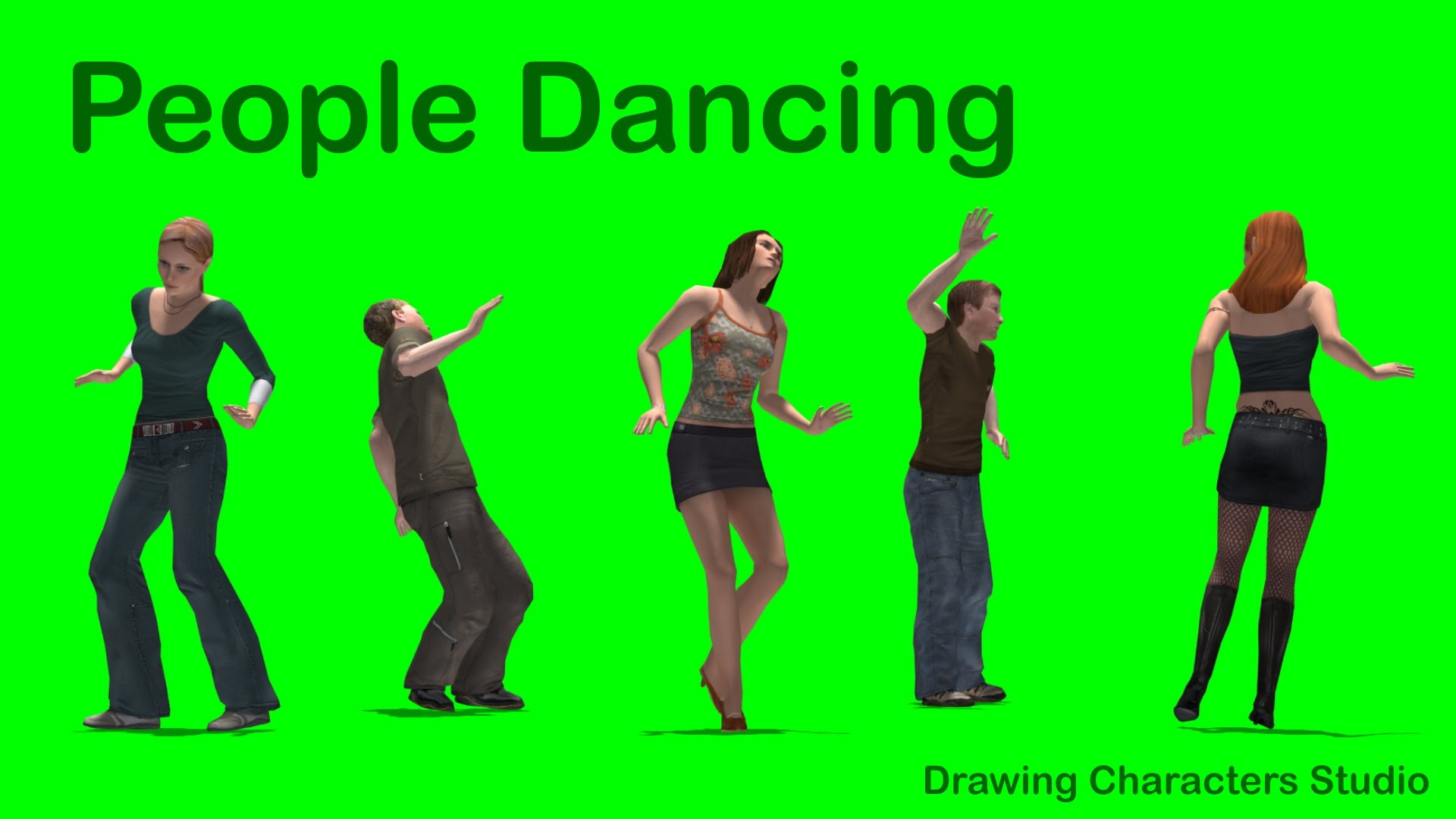 1920x1080 People Dancing (Hd) Green Screen