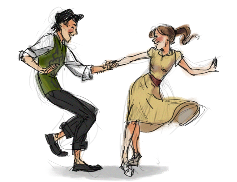 766x591 Pictures Drawings Of Couples Dancing,
