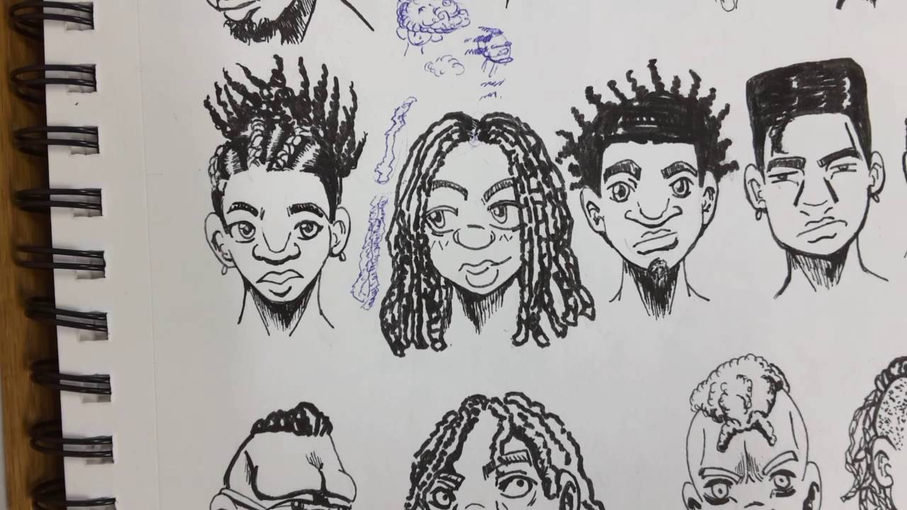 1280x720 Re Up) How To Draw (Manga Style) Black People