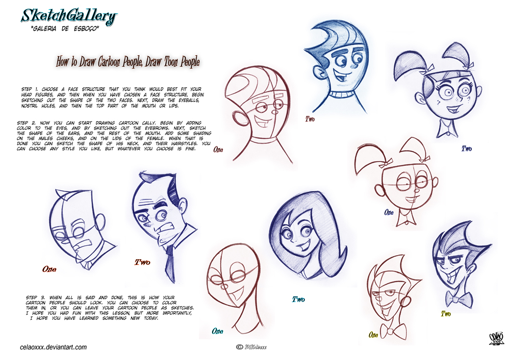 1000x692 how to draw cartoon people draw toon people by celaoxxx on deviantart