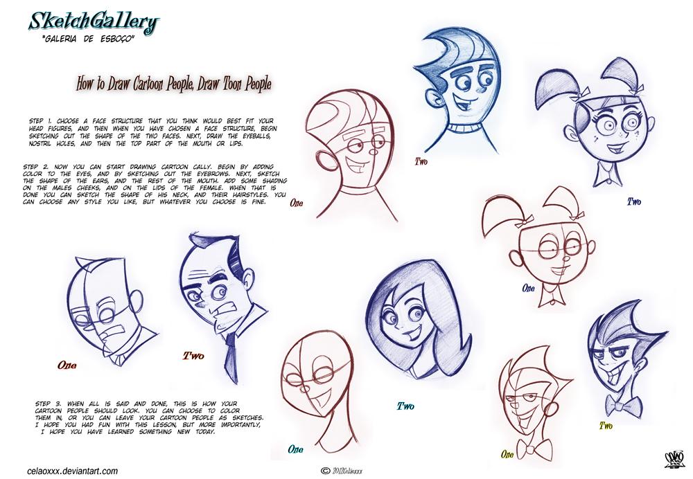 1000x692 How To Draw Cartoon People Draw Toon People By Celaoxxx