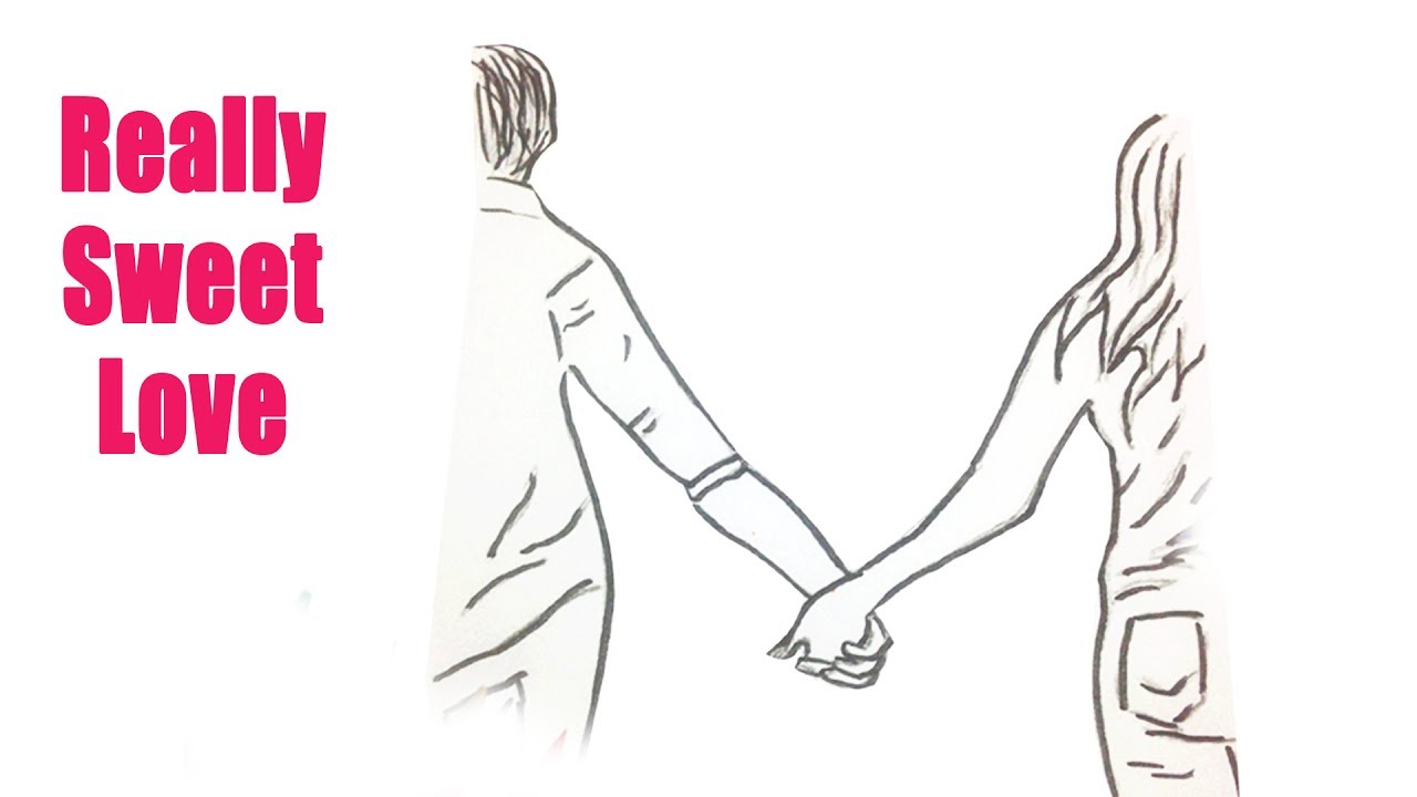 1280x720 How To Draw A Boy And Girl Holding Hands How To Draw People