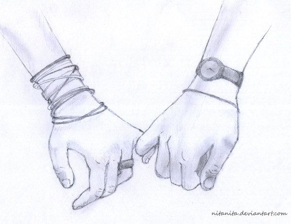 600x462 How To Draw People Holding Hands