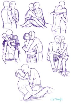 236x347 Couple Two People Hugging Drawing People Hugging