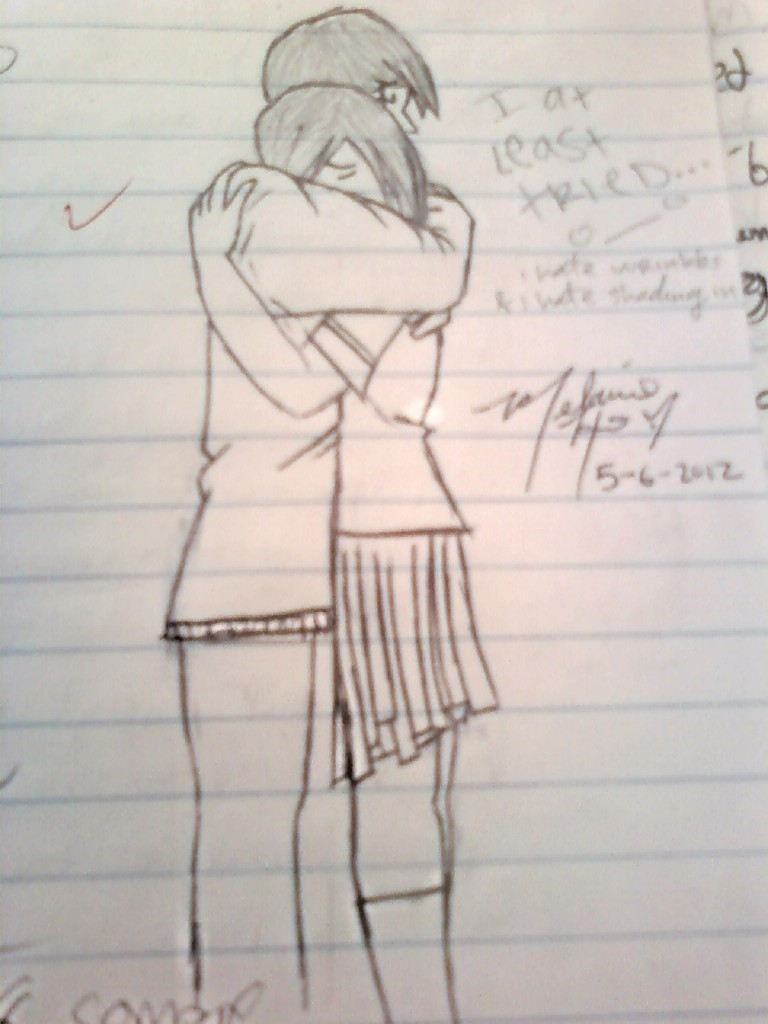 Easy Drawings Of People Hugging