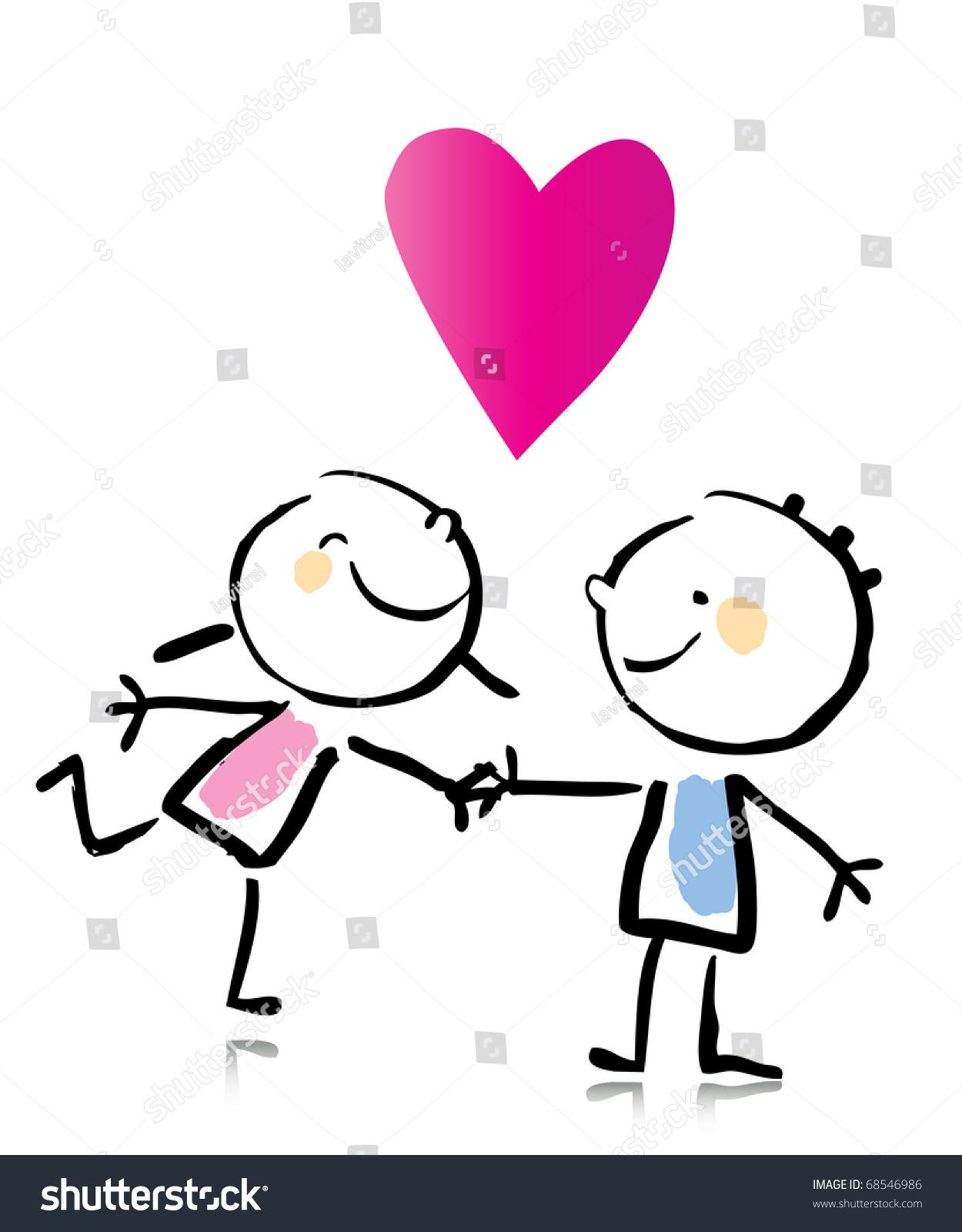 1250x1600 Cartoon Drawings Of People In Love Valentines Day Cartoon Romantic
