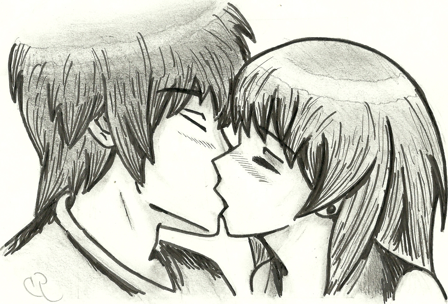 1549x1050 Drawings About 2 People In Love Manga 2 People Kissing By
