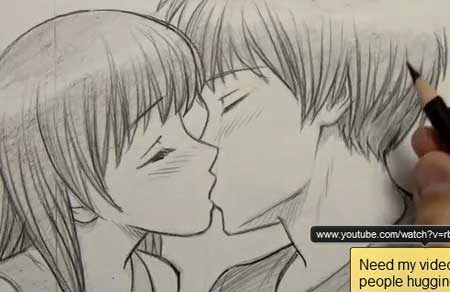 450x292 How To Draw People Kissing
