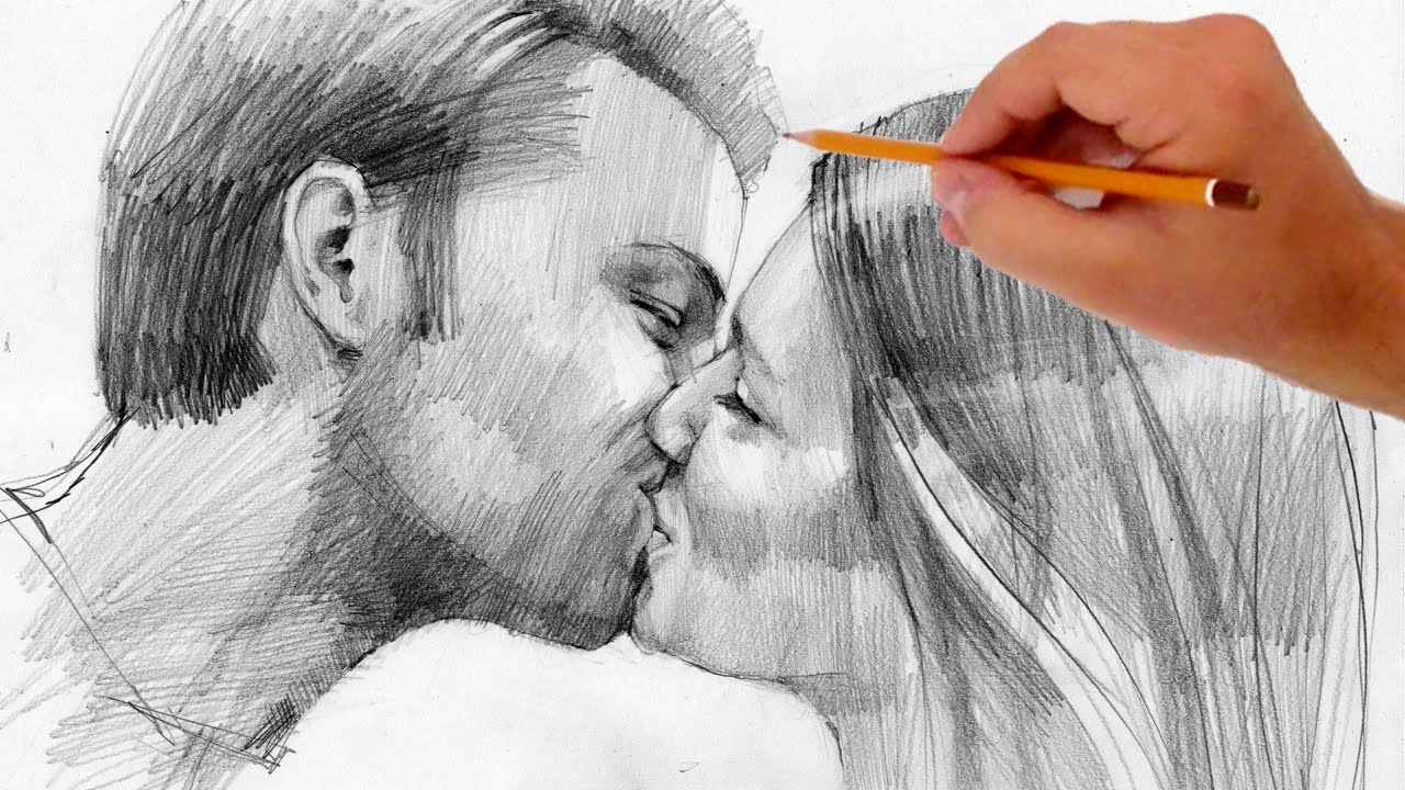 1280x720 How To Draw Kissing People