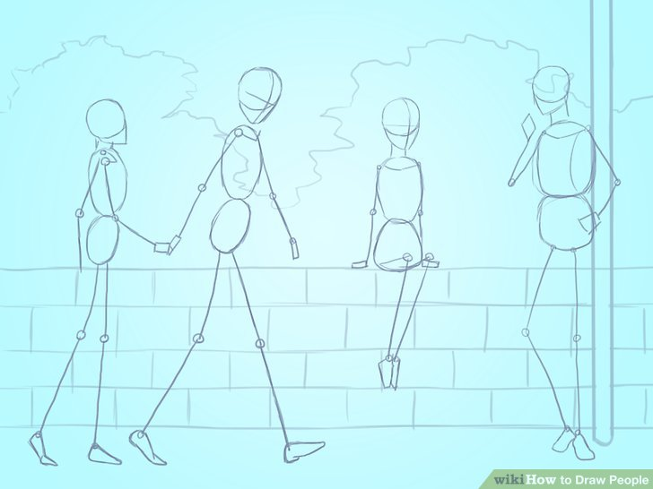 People Standing Drawing at GetDrawings.com | Free for personal use ...