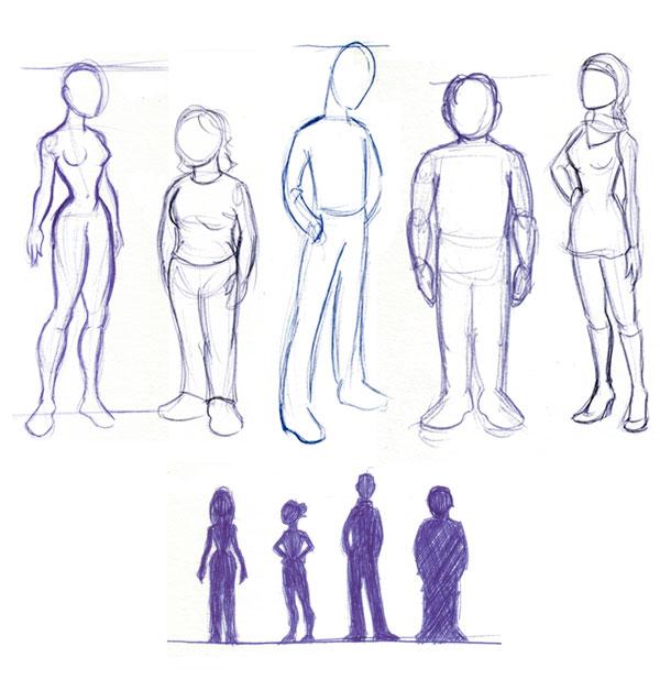 600x627 Resultado De Imagen De Dibujar Personas Paso A Paso Dibujar