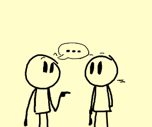 300x250 People Talking (Drawing By Voctinny)