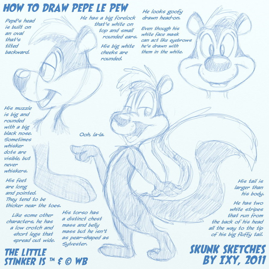 894x894 How To Draw Pepe Le Pew By Ixbalam