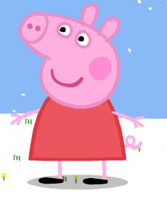 240x285 How To Draw Peppa Pig Feltmagnet