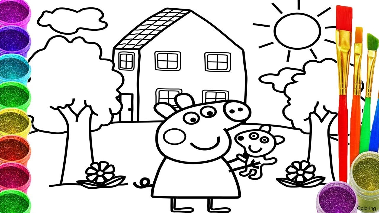 1280x720 Maxresdefault Drawing For Childeren Coloring How To Draw Peppa Pig