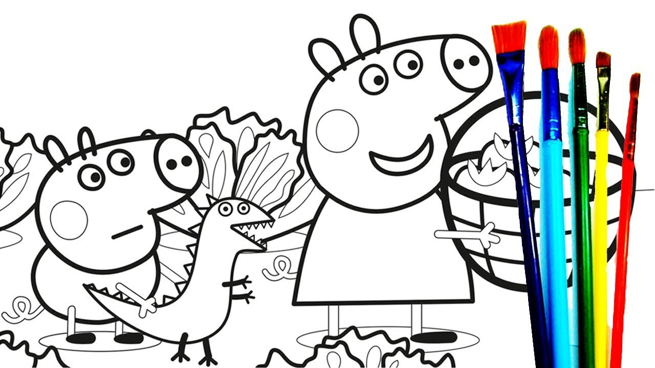 1280x720 Peppa Pig Coloring Pages