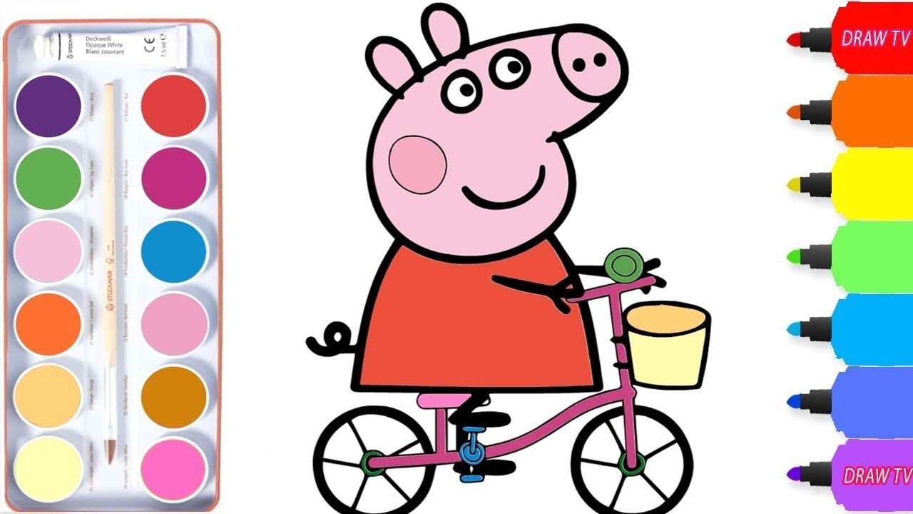 1280x720 Peppa Pig Coloring To Draw Peppa For Kids