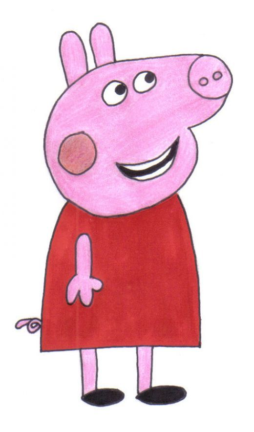 520x884 How To Draw Peppa Pig