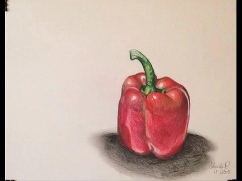 480x360 3d Realistic Pepper Drawing