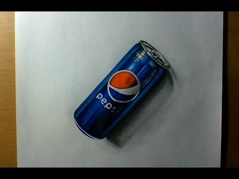 480x360 3d Drawing A Pepsi Can