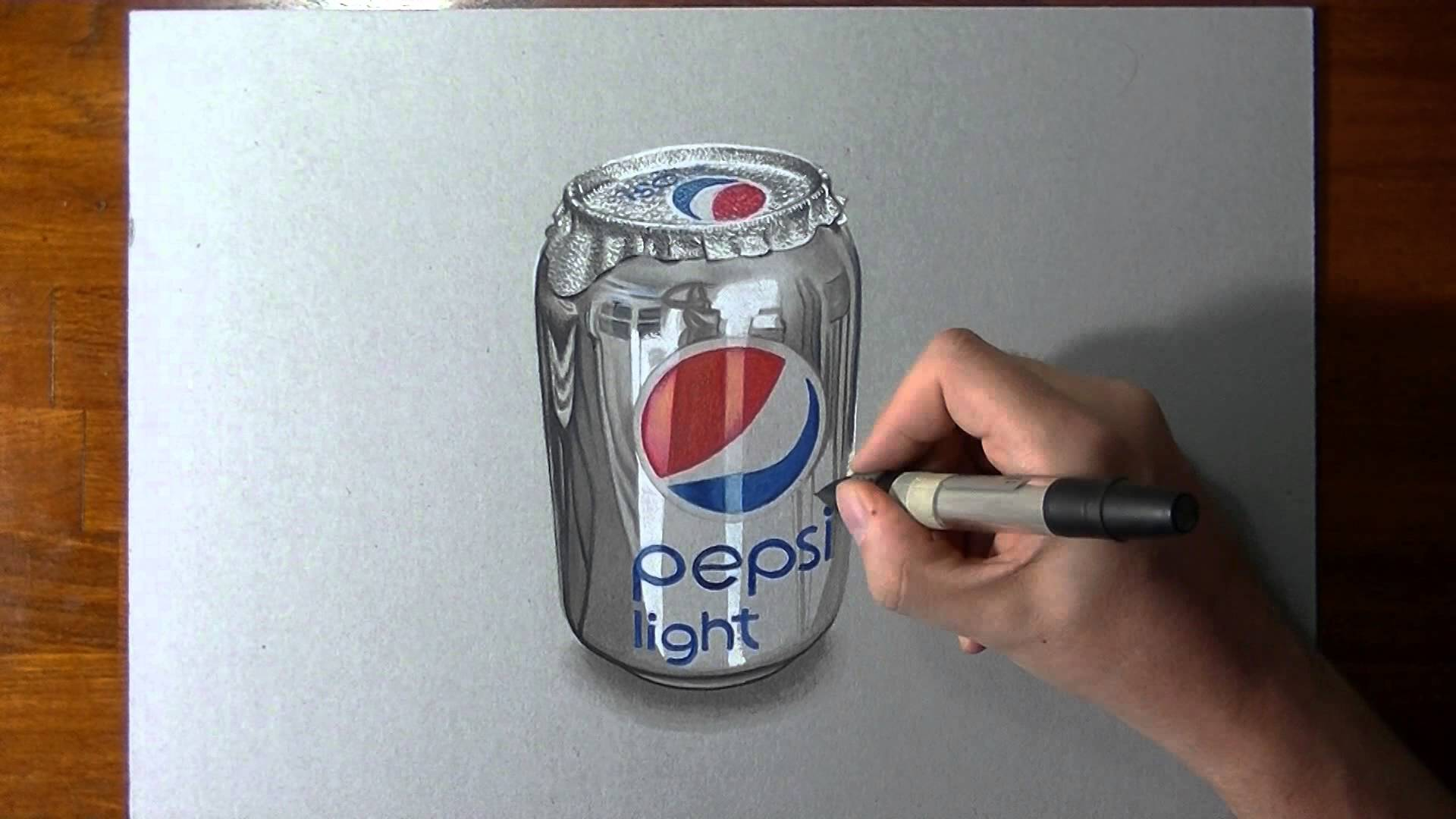 1920x1080 Crazy Realistic Drawing Pepsi Can