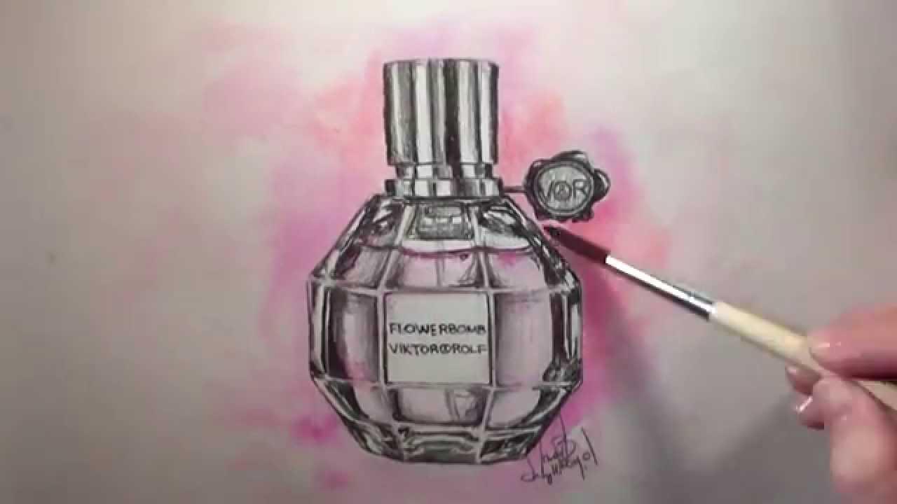1280x720 Speed Drawing Flowerbomb Perfume