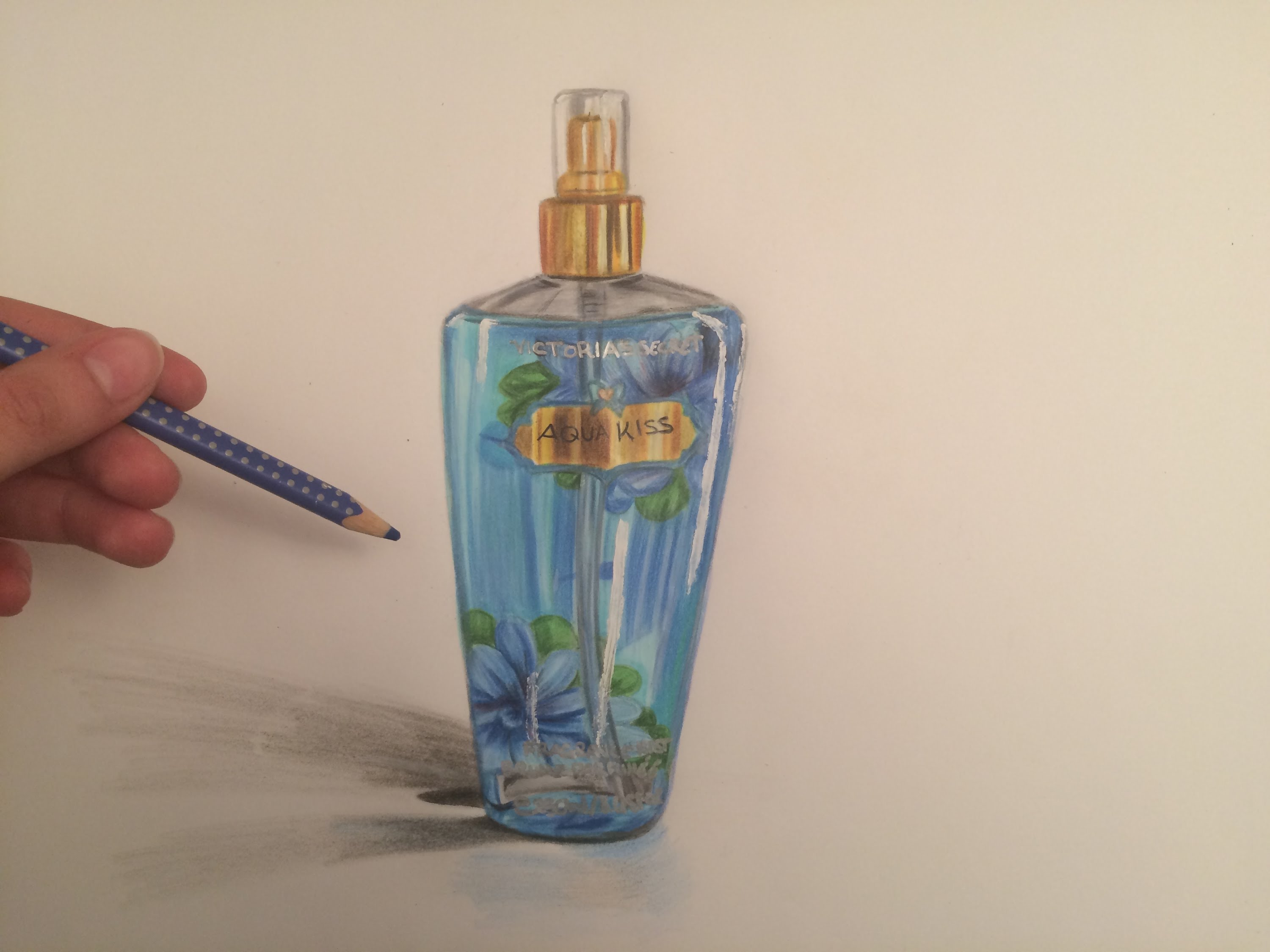 3000x2250 Drawing A Realistic Victoria's Secret Perfume Bottle I Sea