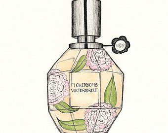 340x270 J'Adore Dior Perfume Drawing Print Pen And Ink