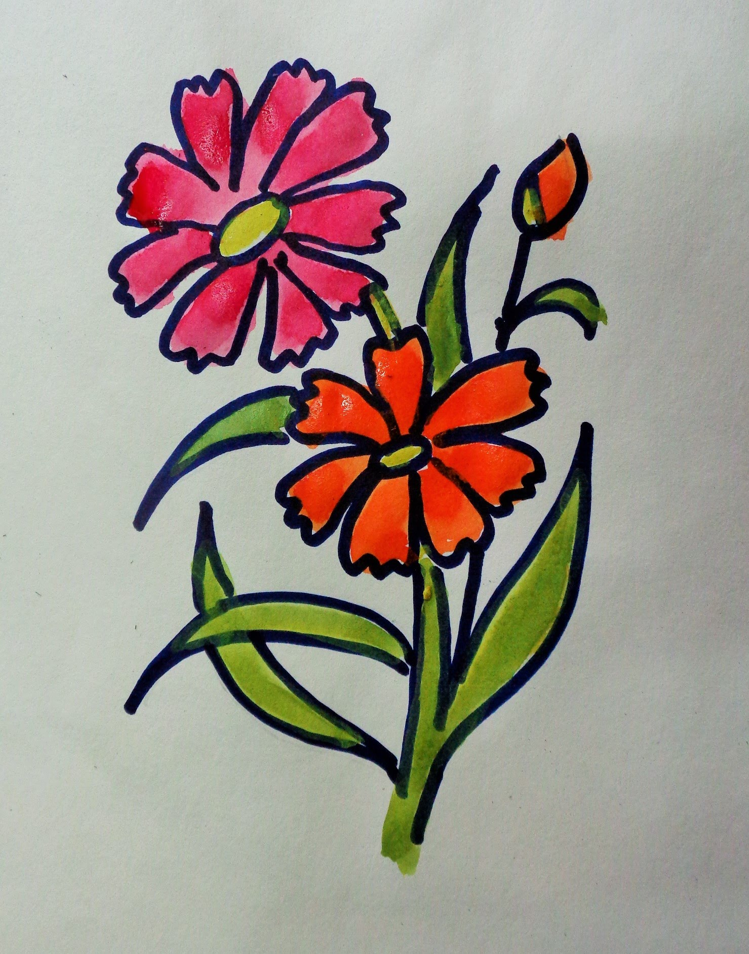 Periwinkle Flower Drawing at GetDrawings.com | Free for personal use ...
