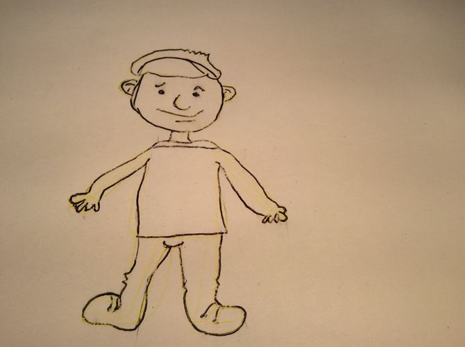 670x500 How To Draw A Cartoon Man 15 Steps (With Pictures)