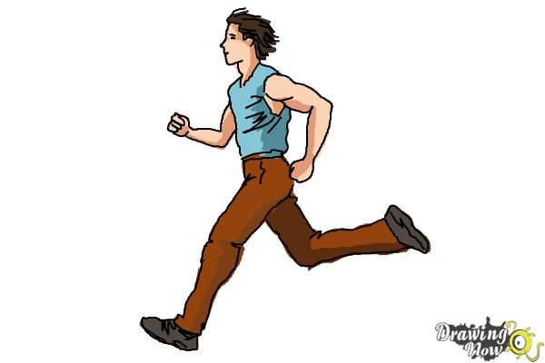 600x400 How To Draw A Running Person