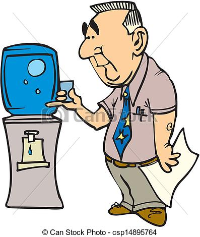 397x470 Business Man Drinks Glass Of Water Clip Art Vector
