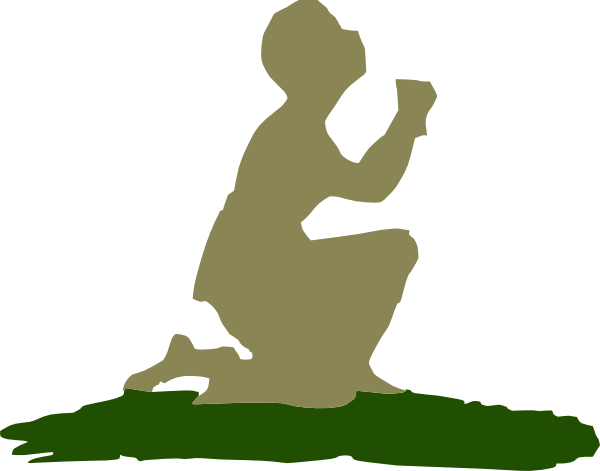 600x471 Kneeling Praying God Clip Art
