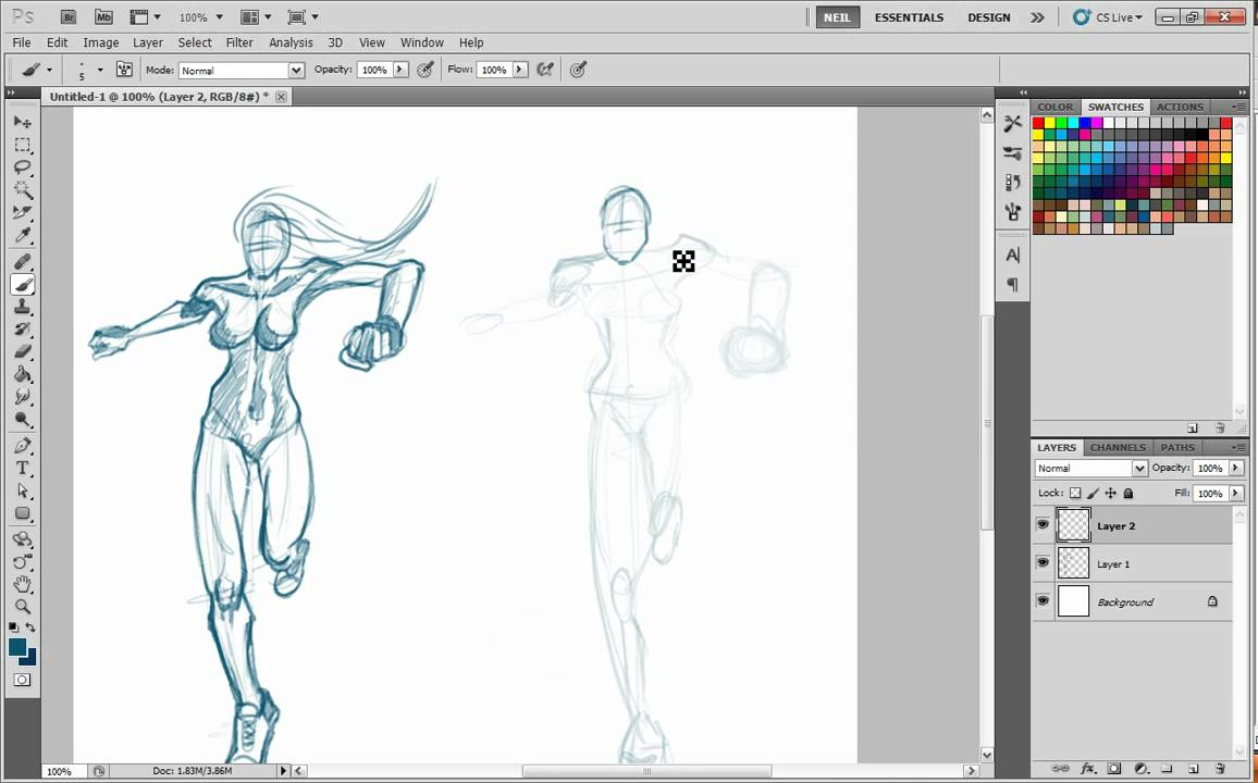 1156x720 How To Draw Person Running