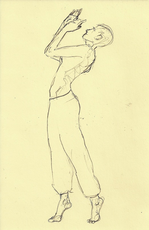 523x803 Figure Drawing How To Draw A Person Standing And Walking On Tiptoe