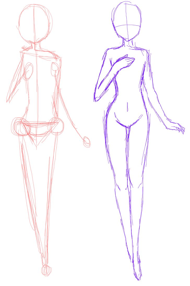 728x1096 Anime Bases Anime Base Standing Guideline Drawing Help