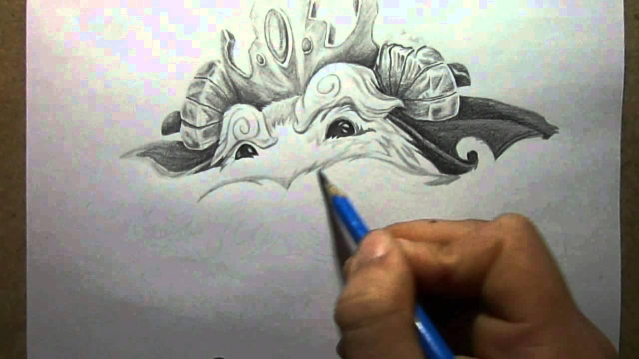 1280x720 Pencil Drawing The Poro King