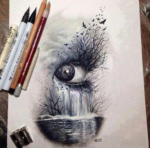 500x493 Drawing Art Eyes Hipster Vintage Boho Indie Personal Grunge Draw