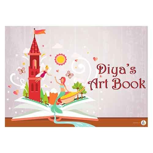 500x500 Fairy Personalized Drawing Book J4kids.in