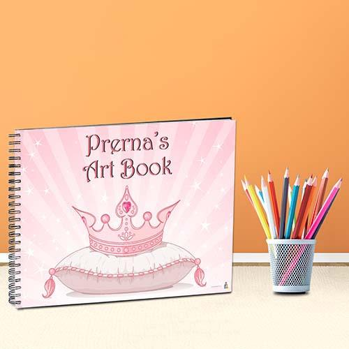 500x500 Personalized Drawing Book Princess J4kids.in