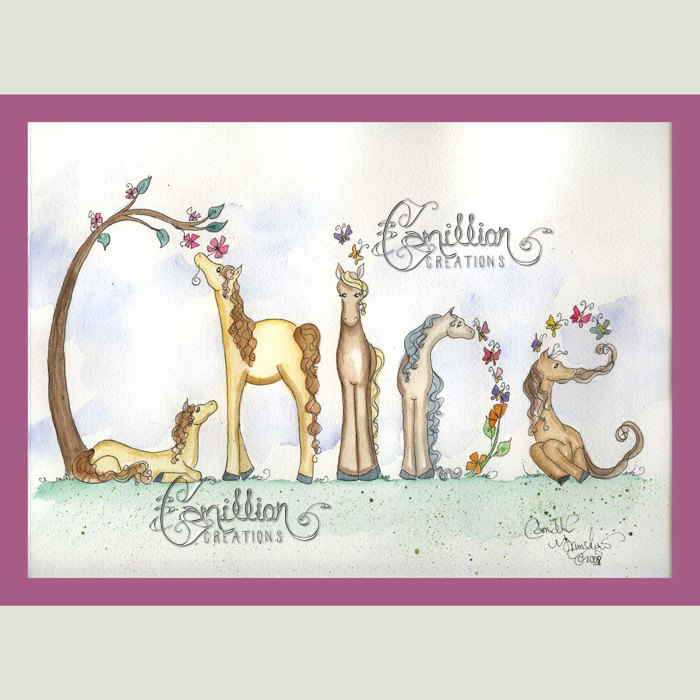 700x700 Personalized Name Picture Art