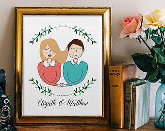 340x270 Personalized Sketch Etsy