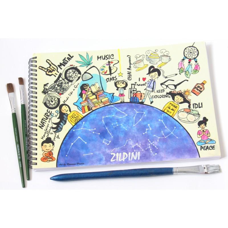 800x800 Zilpini Custom Drawing Book