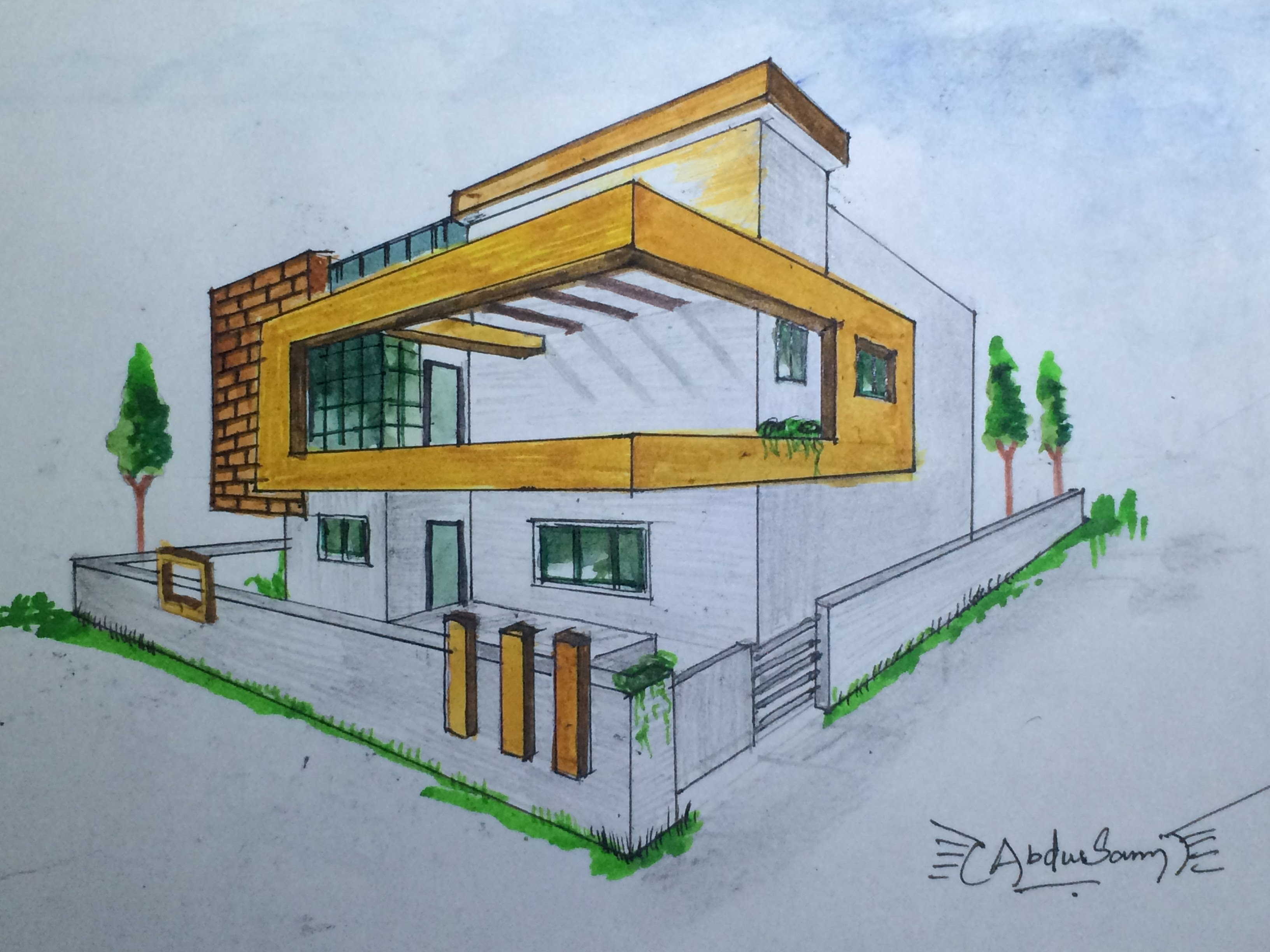 3264x2448 Architectural Perspective Drawing