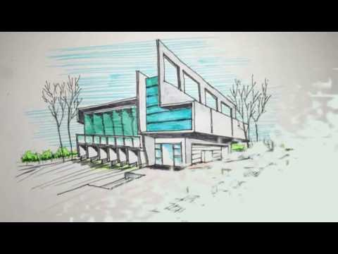 480x360 Two Point Perspective Freehand Building Drawing