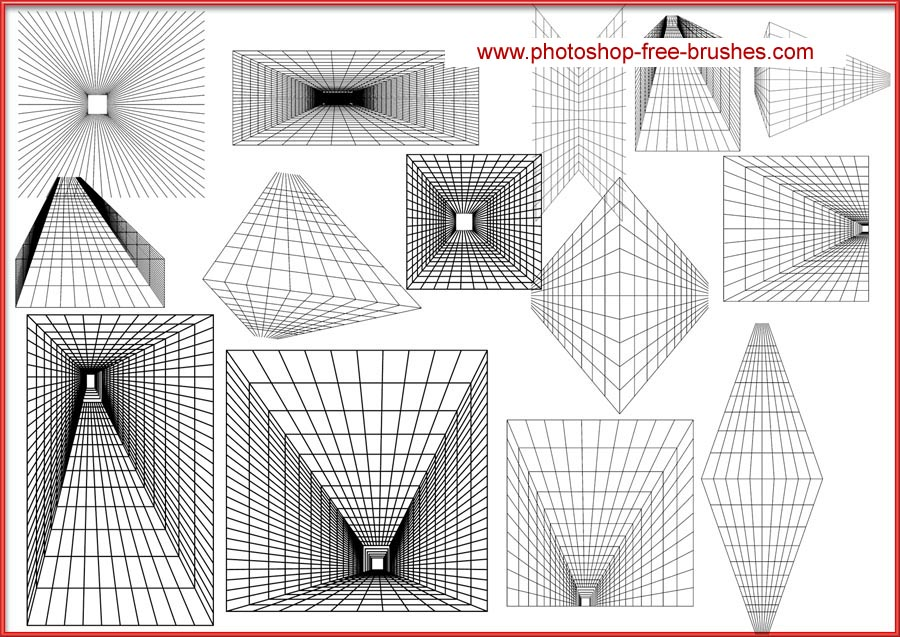 900x637 Perspective Grid Brush By Velavan