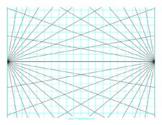 236x182 This Perspective Grid Paper Is Formatted With One Point