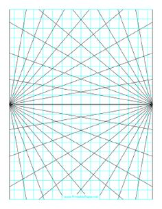 236x305 This Perspective Grid Paper Is Formatted With Two Points